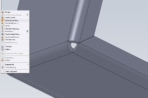 Blechkonstruktion mit Inventor 300×200 – Menü